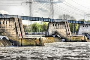 River dam and watergate by UdoChristmann