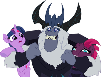 Storm King with Twilight and Tempest Shadow by jhayarr23