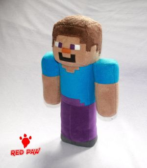 Steve Minecraft - Plush Soft Toy by Lavim