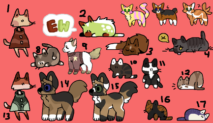 Adopts! 3 points each! by Telap