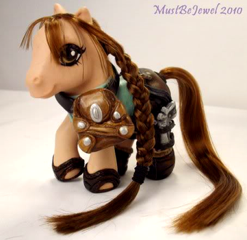 Lara Croft: Tomb Pony by MustBeJewel