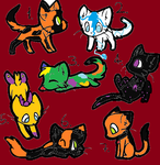 Free Cat Adopts (5/7 adopted :-o ) by FruityFox1
