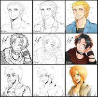 switcharound meme the bishie boys by AderiAsha