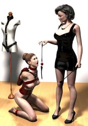 Dominatrix and slavegirl by hookywooky
