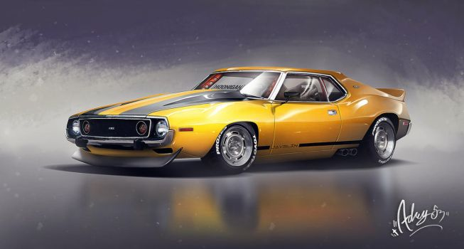 [Commission Work] 74' AMC Javelin Amx by Adry53
