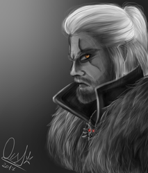 Geralt Of Rivia by LordPhantomChips