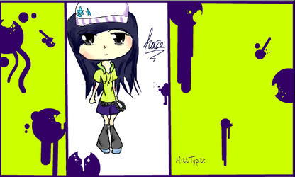 Chibi: my OC Haze by MissTypist