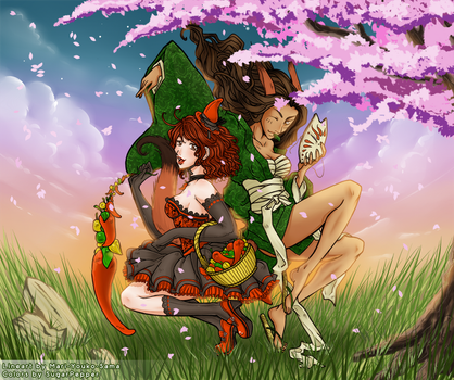 :Collab: Youko and Pepper by SugarPepper