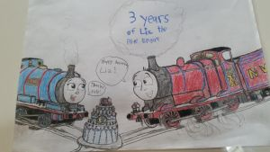 3 Years of Liz the Blue Engine Contest Entry by natethegreat476