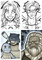 Sketch Card Round-Up by TravisTheGeek