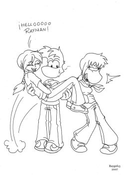 Cindy, Rayman and Raygirl by Raygirl13