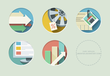 Flat Icons by LimonTea