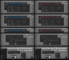 Numix Dark Blue and Red Theme Win10 Creators Up1 by Cleodesktop