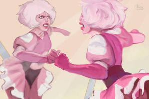 Pink diamond fanart by Vestes