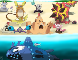More Alola Pokemon and Alola Forms by SuperPikachuLover123