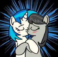Commission - Vinyl Scratch and Octavia by DragonBlood6400