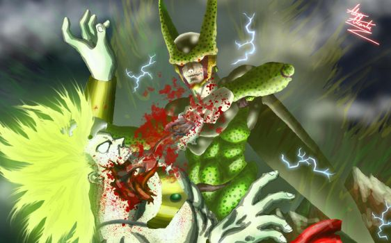 DBZ PWNAGE: Cell vs. Broly by Virus-91