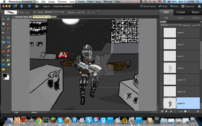 (Old) Mass Effect hand drawn animation WIP by pvtjcaboose