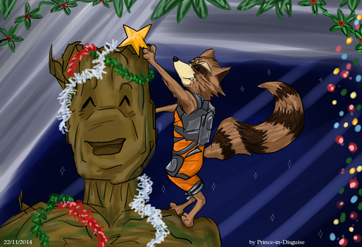 Rocket Raccoon - Rock Your Christmas by Prince-in-Disguise