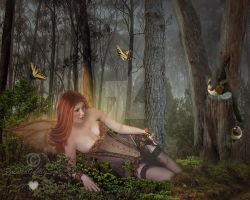 Forest Fae by PaintedOnMySoul