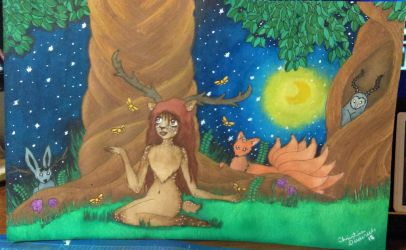 Fantastical Forest by PsyckoStinaMuffin