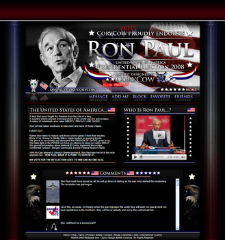 Ron Paul Election 2008 Layout by CoryCow