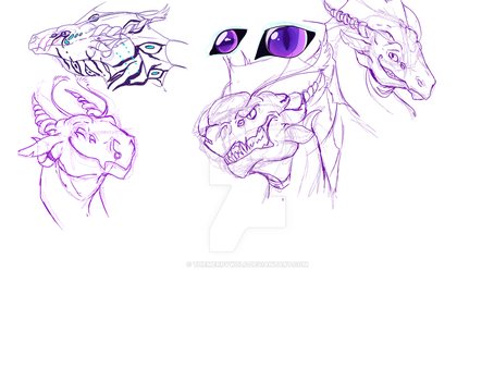Zyrron Doodle Refs by TheMerryWolf