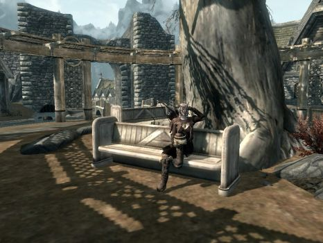 Resting in Whiterun by FadeC9