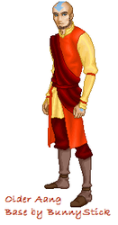 Older Aang by theoneandonlycatnip