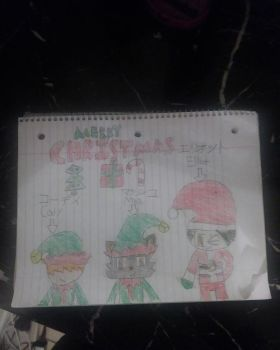 Merry Christmas Featuring. Mash, Cody And Elliot by marcusderjr