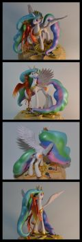 MLP:FIM Celestia sculpture by CaptainWilder