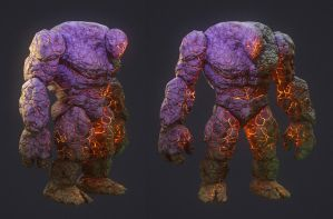 Stone Golem (textured) by ivilai