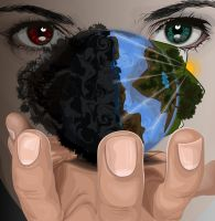 Good vs Evil in your hands by MauricioMassami