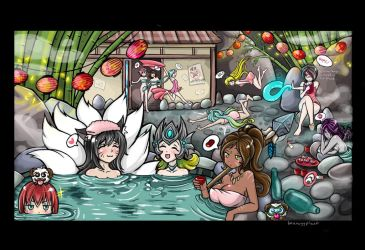 League of hot springs by imaneggplant