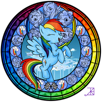 Stained Glass: Rainbow Dash -better- by Akili-Amethyst