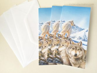 Wolves cards for Christmas! by Heliocyan