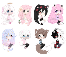 Chibi Mix Adoptables [ CLOSED ] by Hunibi