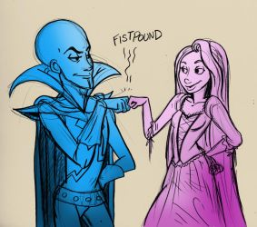 Megamind - Tangled are buds by secondlina