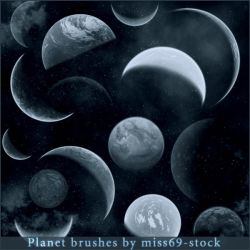 Planet Brushes by miss69-stock