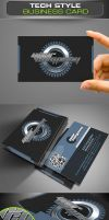 Tech Style Business Card by ravirajcoomar