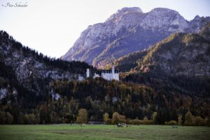Different view.......from valley up to castle. by Phototubby