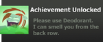 Achievement: Please use Deodorant by WolfProduction