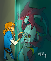 botw x the shape of water by chenysin