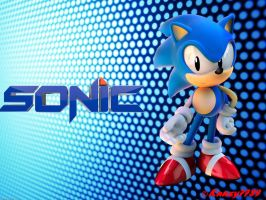 Classic Sonic - Wallpaper by Knuxy7789
