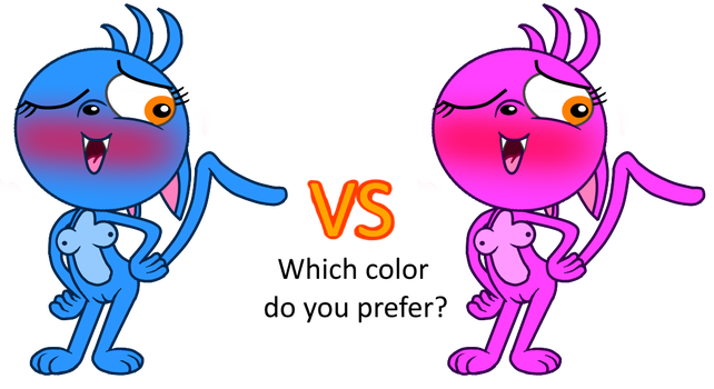 Blue vs Pink by smawzyuw2