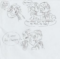 Lan owns Megaman (Uncoloured) by ick25