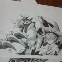 Taichi and Wargreymon Digimon Adventures by zlyng970324