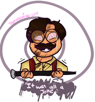 Insane Colonel (Warfstache) by DevennaSori