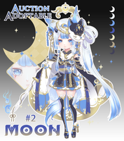 [CLOSED] Astral God #2- Auction: Moon by Katzyrine