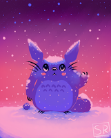 Snowy Winter Totoro by SarahRichford